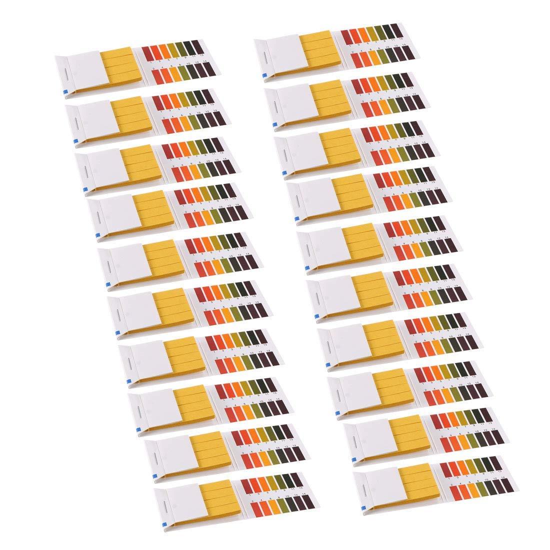 PH Test Strips 1-14 Indicator Paper Laboratory Litmus Tester 80in1 Kit for Water Food Pool Aquarium Tests Alkaline Acid 20 Pieces