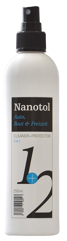 Nanotol Testsieger Regenabweiser Scheibenversiegelung 2in1 Cleaner+Protector - Reinigung & Nanoversiegelung | Autopflege mit Lotuseffekt (500 ml) CeNano
