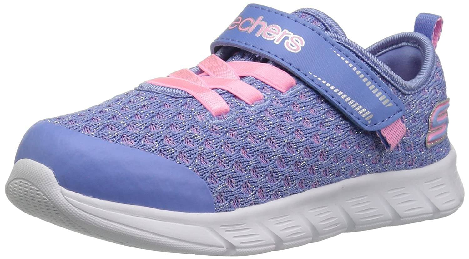 Skechers ユニセックスキッズ 82188N B0777FGYKL 10.5 Medium US Little Kid|Periwinkle/Pink Periwinkle/Pink 10.5 Medium US Little Kid