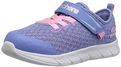 953dfb2cccd Skechers Kids Girls' Comfy Flex Sneaker,periwinkle/pink,4 Medium US Toddler