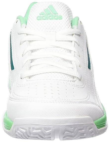 adidas Performance Sonic Attack, Chaussures de Tennis Femme, Blanc-Weiß (FTWR White/EQT Green S16/Green Glow S16), 40 EU