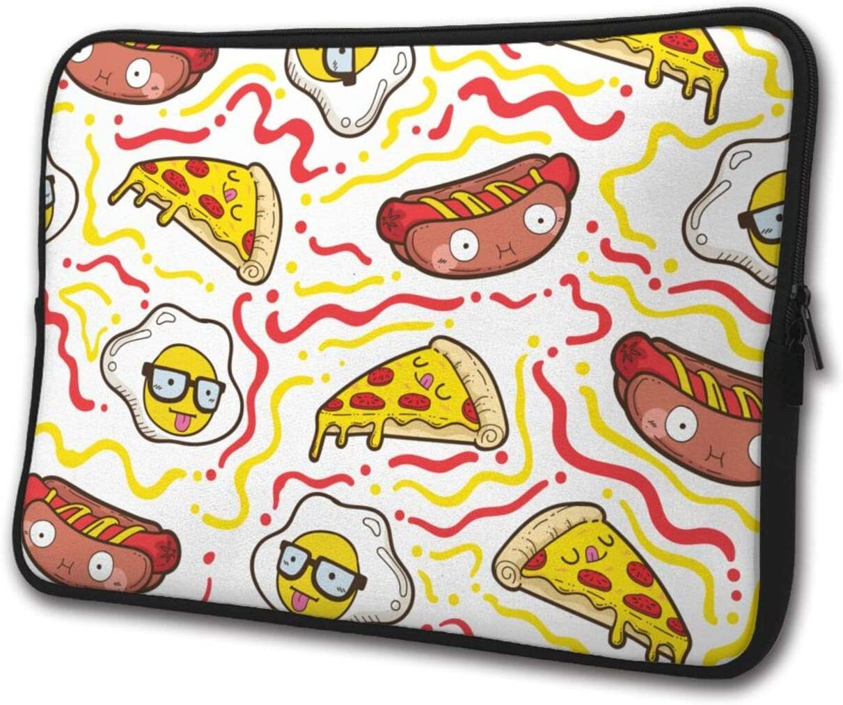 Cute Food Pattern Laptop Sleeve Case Briefcase Cover Protective Computer Bag