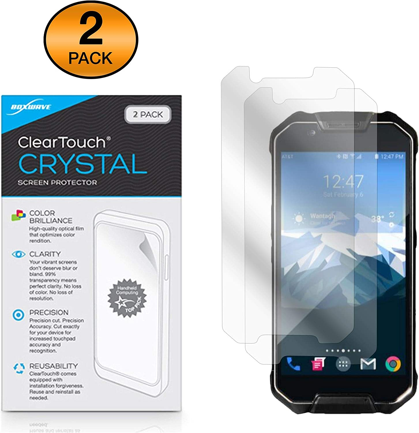 Shields from Scratches for Cedar CP3 BoxWave ClearTouch Crystal HD Film Skin 2-Pack Cedar CP3 Screen Protector