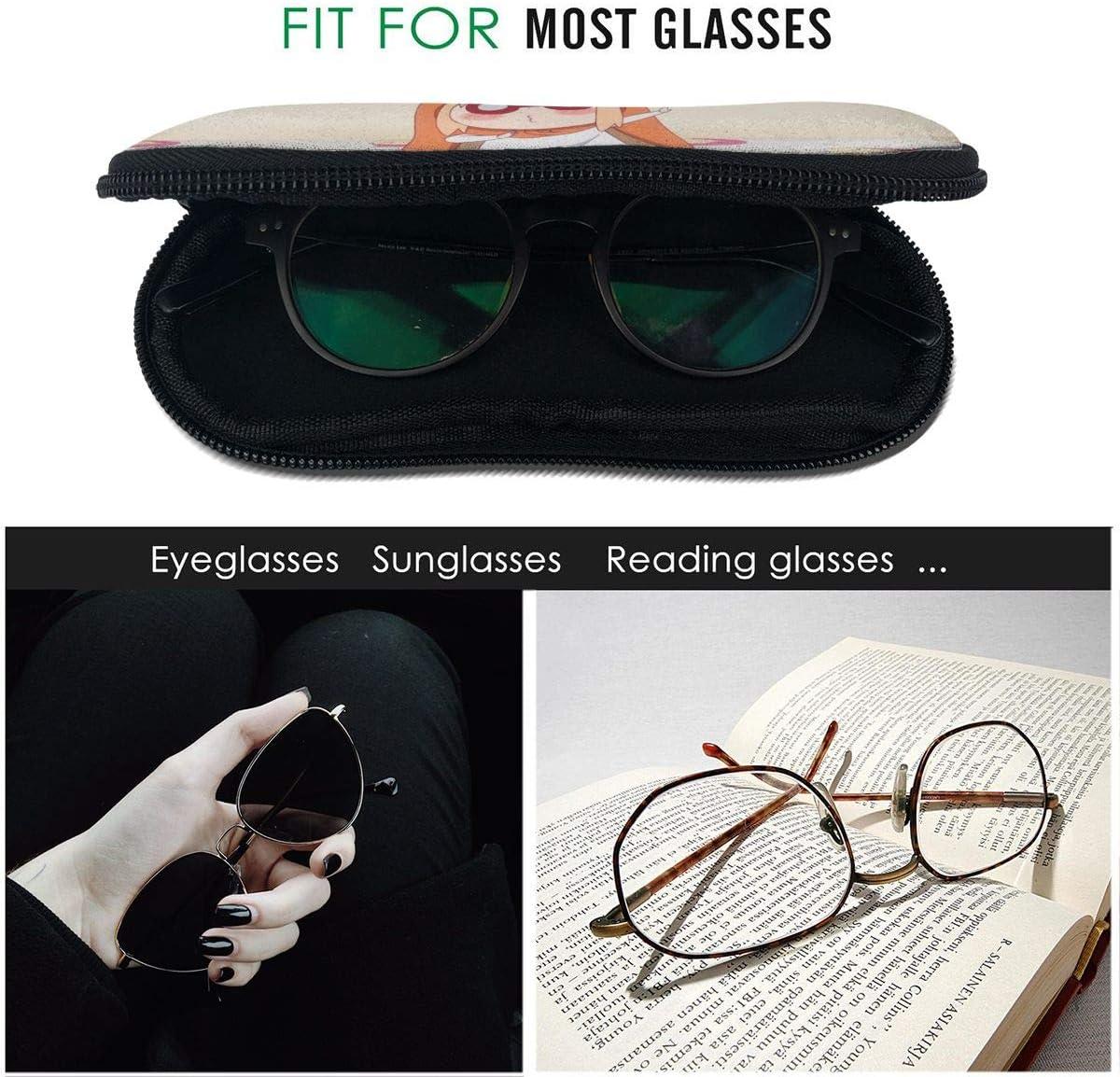 Anime Himouto Umaru Chan Glasses Case Sunglasses Organizer Ultra Soft Light Neoprene Zipper Eyeglass Case Hangable