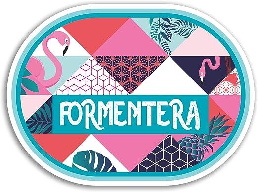 2 x 10cm Formentera pegatinas de vinilo - Viajes España Etiqueta de equipaje portátil # 18183 (10 cm de ancho): Amazon.es: Hogar