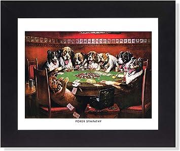 Diseño de perros jugando al póquer en #3 mesa de pared cuadro de Metallica de fotos de madera de: Amazon.es: Hogar
