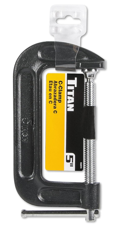 5 5 Titan Tools 51574 Heavy Duty C-Clamp