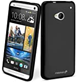 Fosmon DURA Series (TPU) Skin Protective Case Cover for HTC One (2013 Model) / HTC M7 - Fosmon Retail Packaging (FRO-Series (Black))