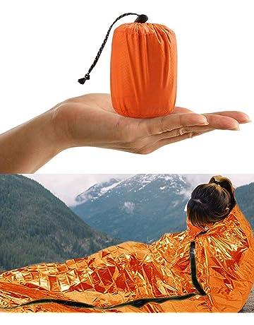 HONYAO Saco de Emergencia Dormir, Supervivencia Bivvy Manta, Impermeable Aislamiento Térmico Albergue, Brillante