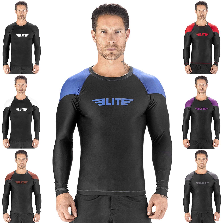 Elite Sports Full Long Sleeve Compression MMA BJJ No Gi Cross Training Rash Guard