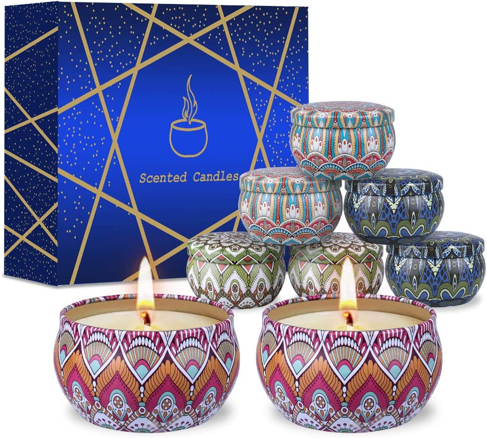 8 PCS Scented Candle Gifts Set for Women