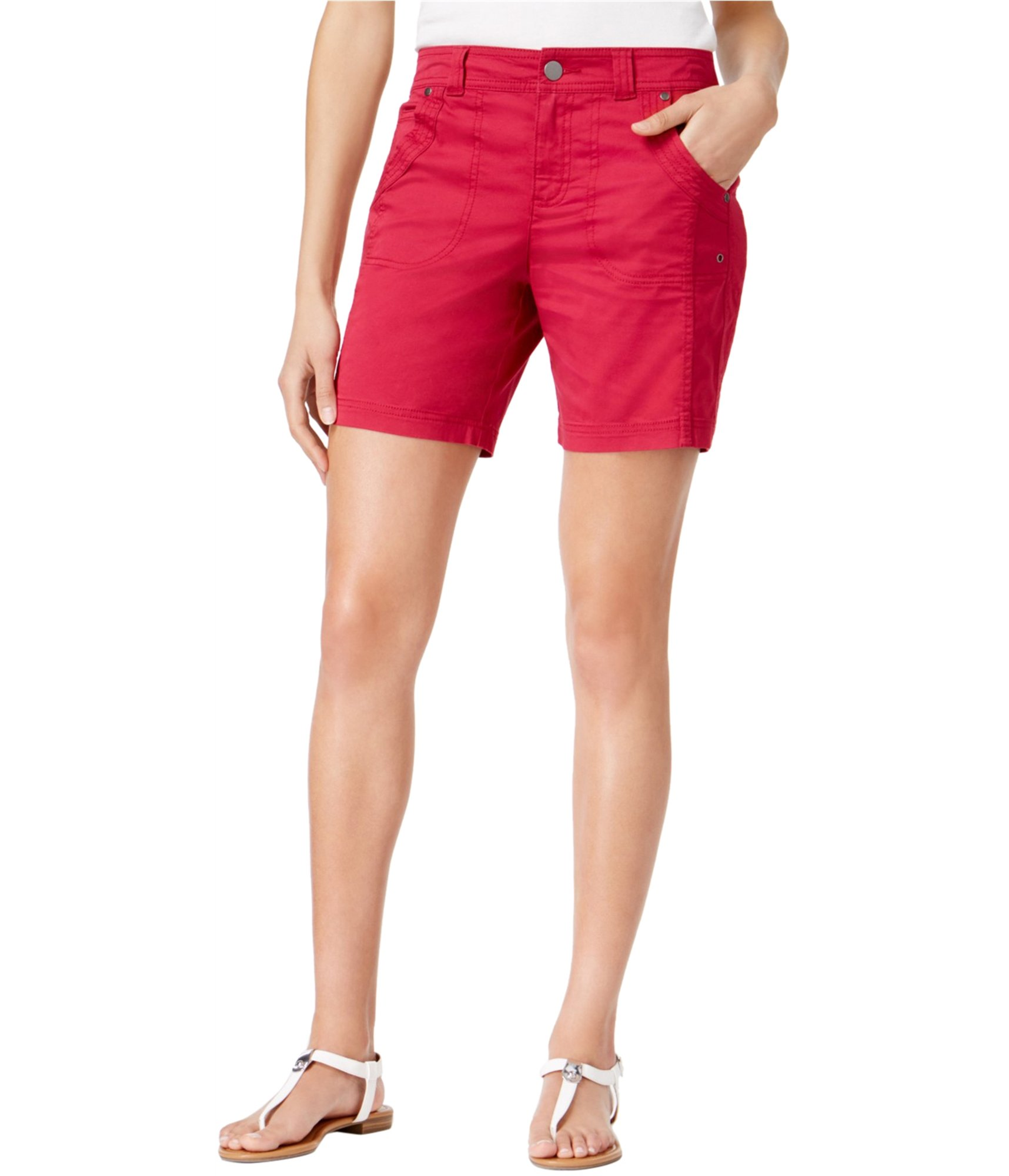 Style & Co. Slim-Fit Shorts (Magenta Punch, 6)