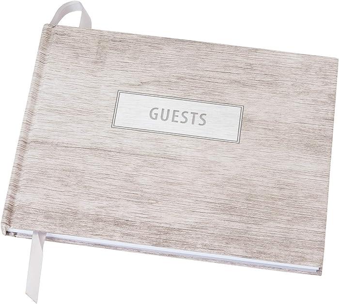 """Wedding Guest Book 9""""x7"""" (Grey Wood) - WGB-Gry"""