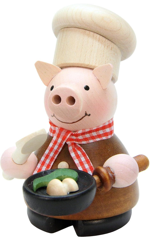 Christian Ulbricht Incense Burner - Lucky Pig Chef - 4.5H x 3W x 3.5D B00CXY7LC6