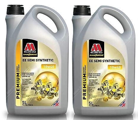 Millers Oils EE Semi sintético 10w40 A3/B4 Aceite de Motor, 10 litros