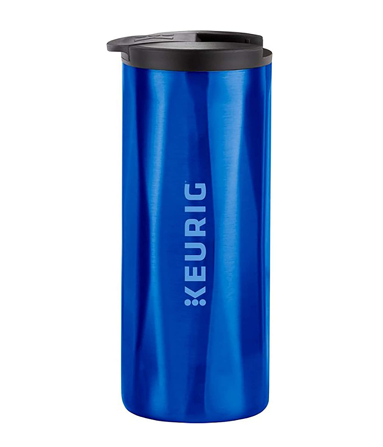 Keurig 14oz Faceted, Vacuum Sealed Insulated, Double-Walled, Stainless Steel Coffee Travel Mug, Works with K-Cup Pod Makers, Royal Blue