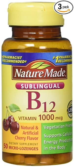 Amazon.com: Nature Made Sublingual Vitamina B-12 0 ...