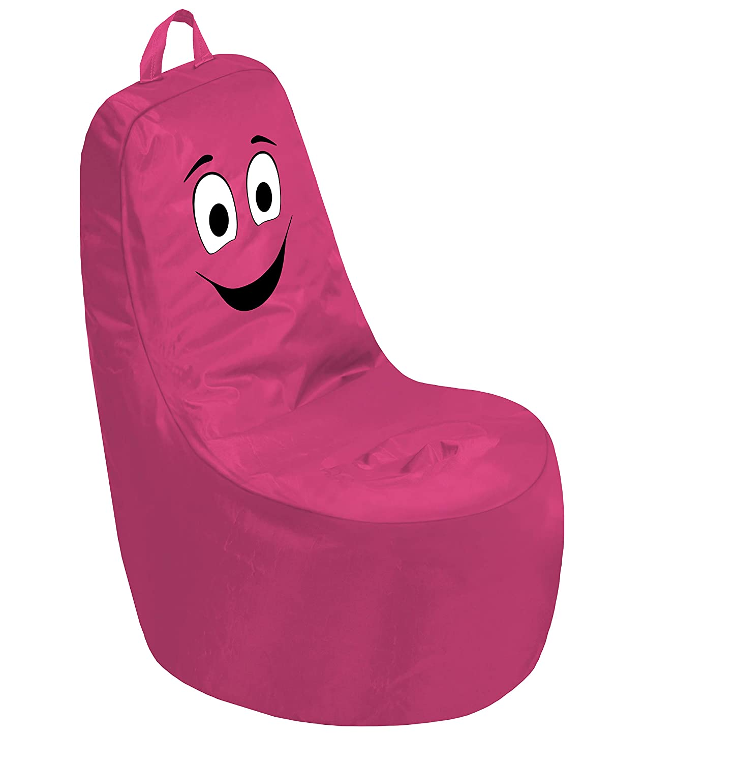 Cali Be Happy Sack Bean Bag Chair, Dirt-Resistant Coated Oxford Fabric, Flexible Seating for Kids, Teens, Adults, Furniture for Bedrooms, Dorm Rooms, Classrooms - Raspberry