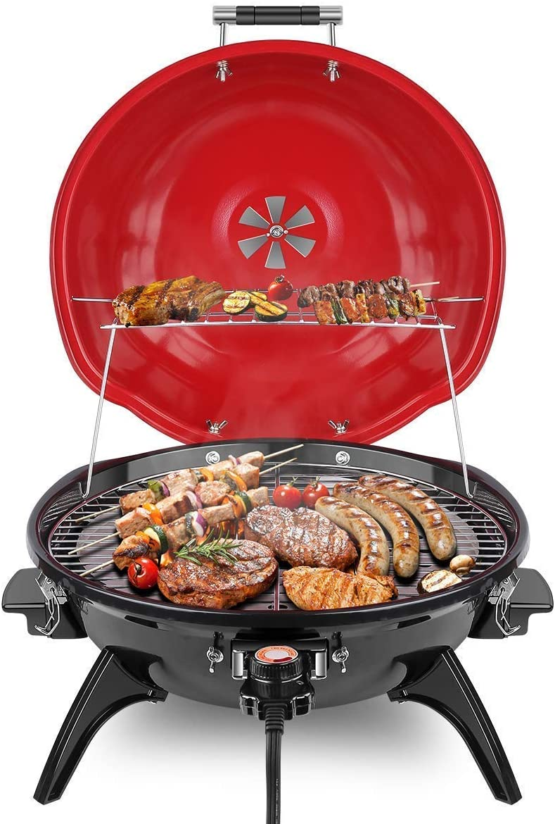 Techwood Electric BBQ Grill 15-Serving Portable Grill