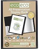 Carpeta de fundas negra, 100% reciclada, bolsillos transparentes, artículo de papelería, eco-eco, negro, A5 60 Pocket/120 View 1 x Single