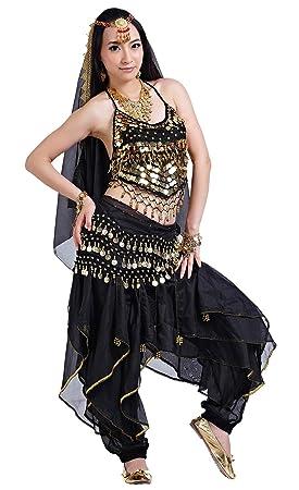 BellyQueen Traje para Danza del Vientre Mujer 5 Piezas Disfraz ...