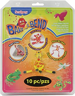 product image for Sculpey Bake and Bend Clay, Multicolor, 10/Pack