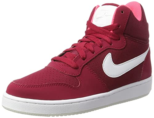 Rosso 36 EU NIKE WMNS COURT BOROUGH MID SNEAKER A COLLO ALTO DONNA NOBLE Scarpe