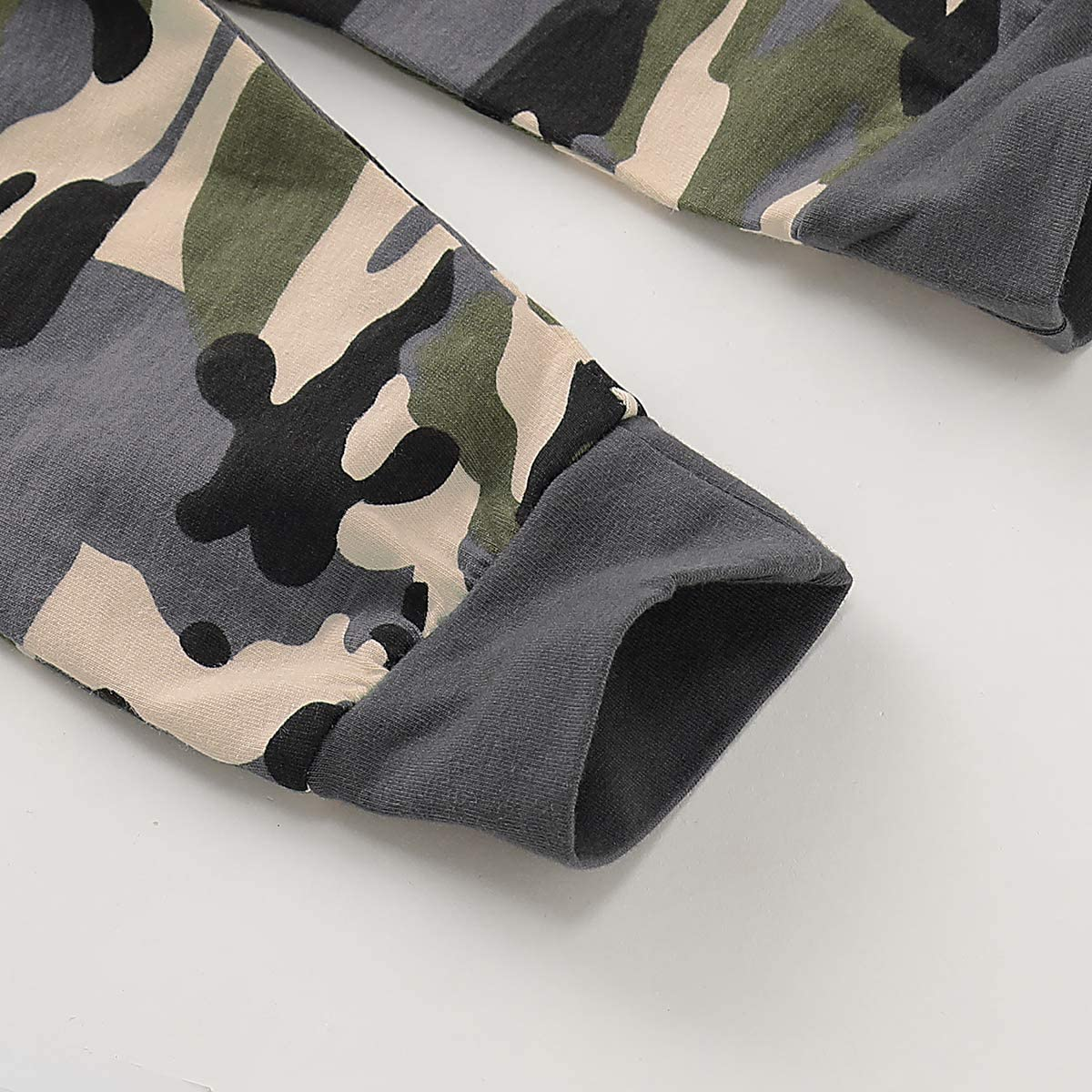 Tabpole Set di pantaloni a maniche lunghe con cappuccio per neonato