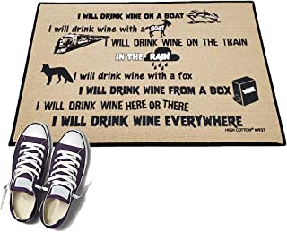 product image for Wine Drinking Poem. - HIGH COTTON Welcome Doormat