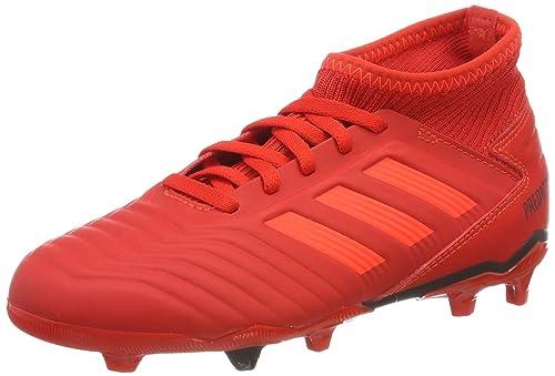 check out dadb7 2b512 adidas Predator 19.3 Fg J, Scarpe da Calcio Unisex-Bambini, Multicolore  (Rojact