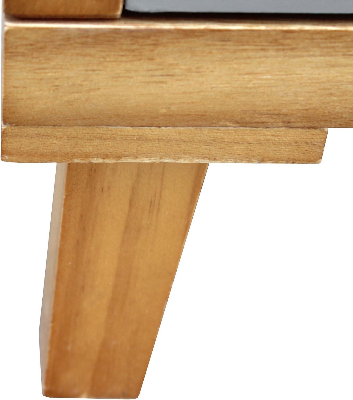 Mobili Rebecca/® Comoda Vestidor 6 Cajones Madera Marr/ón Blanco Gris Estilo Contemporaneo Mueble Dormitorio Sal/ón Cod. RE6049