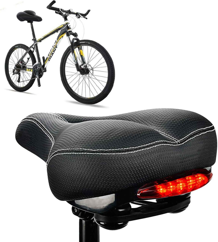 Daskoo sillin Bicicleta Gel,Sillín Bicicleta MTB BMX antiprostatico,sillin Bici Mujer con Dos amortiguadores Cojín Cómodo Transpirable Amortiguamiento Adecuado para Bicicleta de Carretera Montaña: Amazon.es: Deportes y aire libre