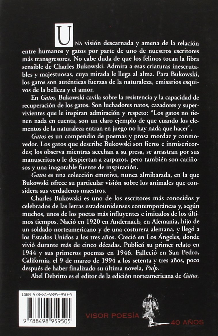Gatos: 950 (visor de Poesía): Amazon.es: Bukowski, Charles ...