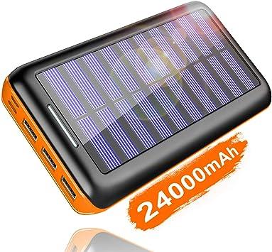 KEDRON - Batería Externa de 24000 mAh, Cargador Solar con 3 ...