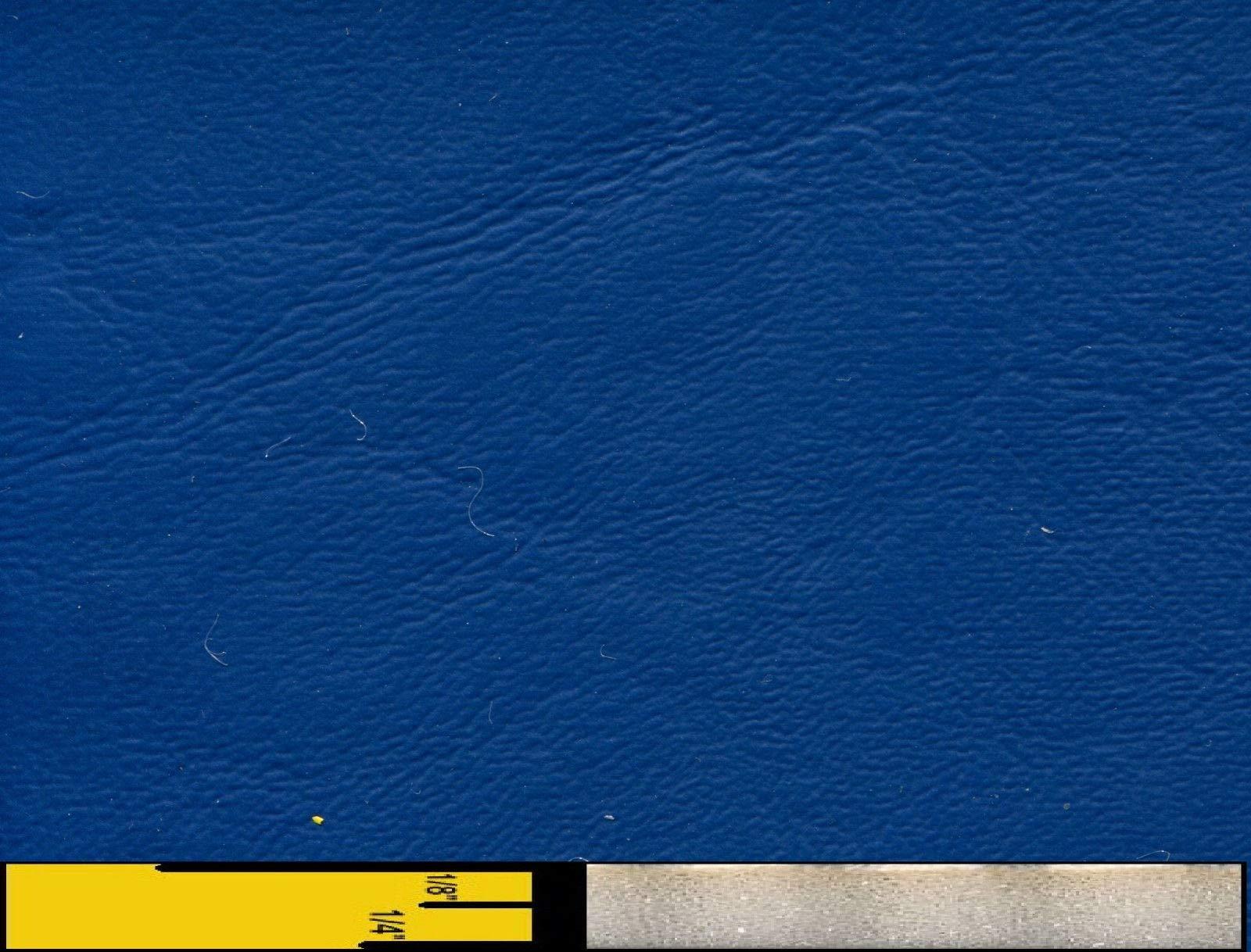 1/4'' Foam Backed Marine Vinyl Upholstery Fabric Dark Blue 54'' Wide by 5 Yards Boat Auto