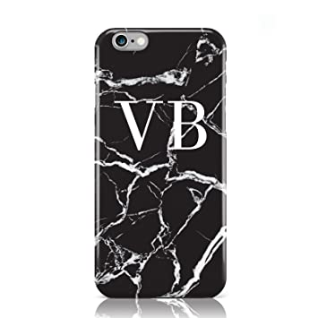 new york 40d54 9639e PERSONALISED BLACK MARBLE MONOGRAM MOBILE PHONE CASE COVER FOR APPLE IPHONE  6 6S