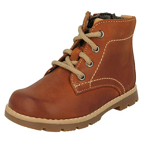 Boys Clarks Lace Up Detailed Ankle Boots Comet Rock