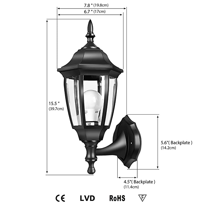 Emart Outdoor Porch Light Led Exterior Wall Light Fixtures Special