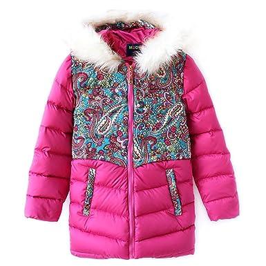 8f225180f M2C Girls Fur Hooded Down Jacket Outerwear Packable Lightweight ...