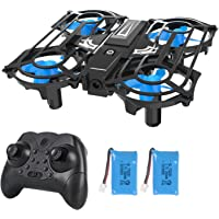Mini Drones for Kids and Beginners, Small RC Quadcopter Drone with 2 Batteries LEDs Light 3D Flip Headless Mode One-Key…
