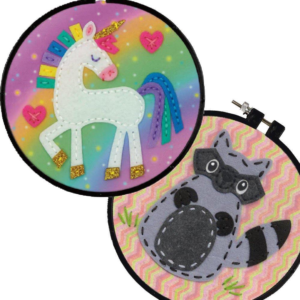 Dimensions Felt Decor Applique Kit Bundle: Unicorn & Raccoon