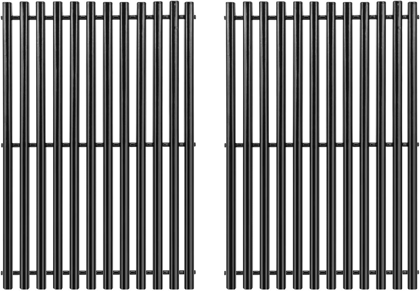 DcYourHome Grill Grates for Weber Grill Replacement Parts, 7525 Porcelain Enameled Grill Grates for Weber Spirit 300 Series, Genesis Silver Gold B/C Replacement Weber 7525 Grates
