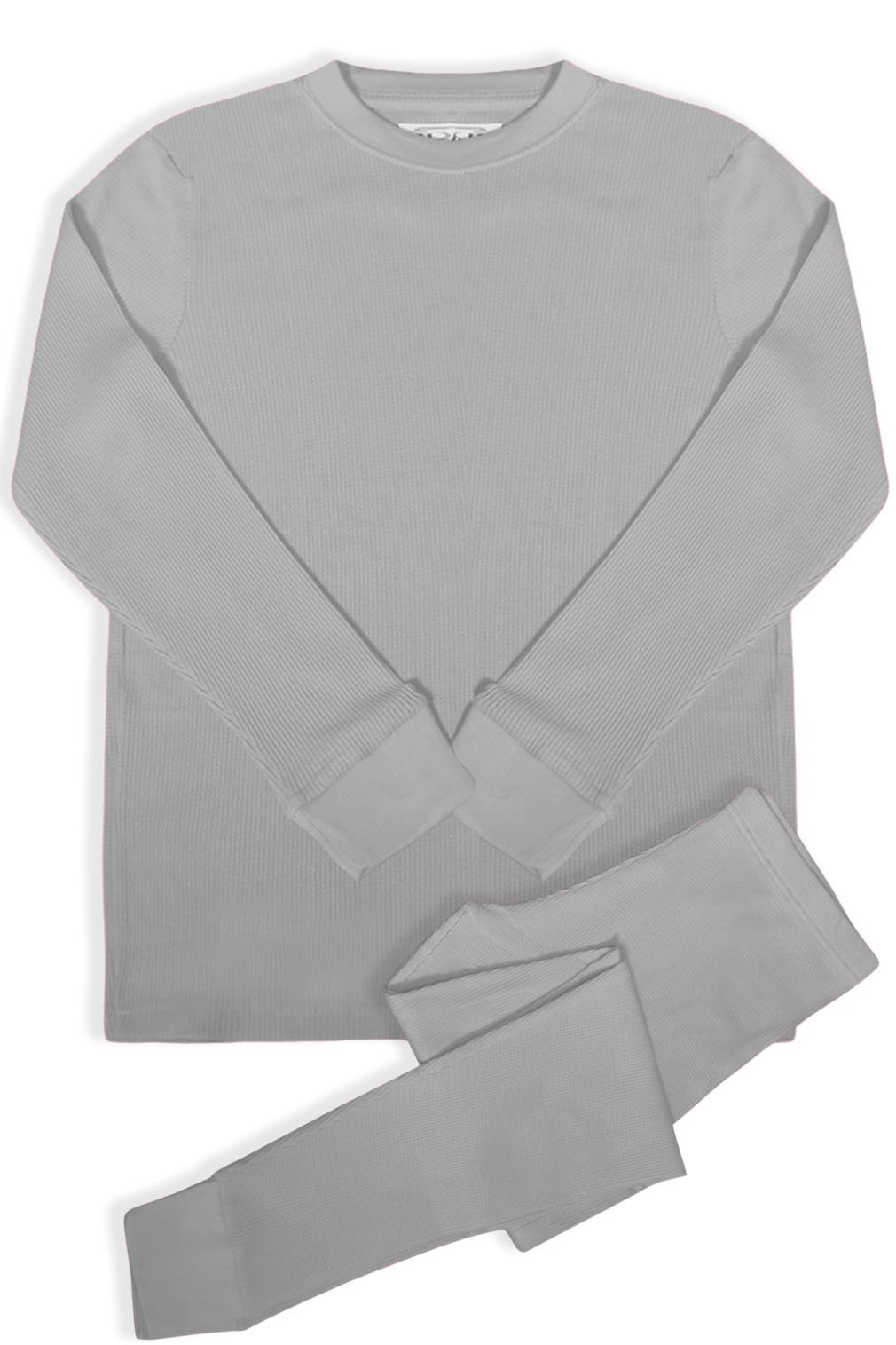 BASICO Women's 2pc Long John Thermal Underwear Set 100% Cotton (X-Large, Cotton Blend Heather Grey)