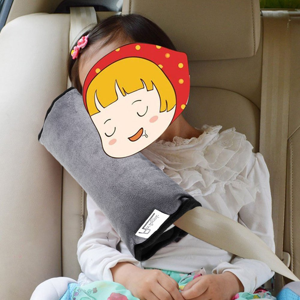 Soft Kids Safety Car Seat Belt Pad Strap Harness Shoulder Sleep Pillow Cushion m