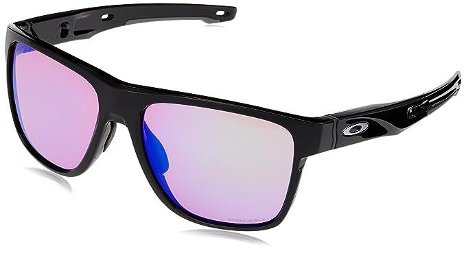 e9540d32f8187 Oakley Men s Crossrange XL Iridium Square Sunglasses Polished black 58.04 mm