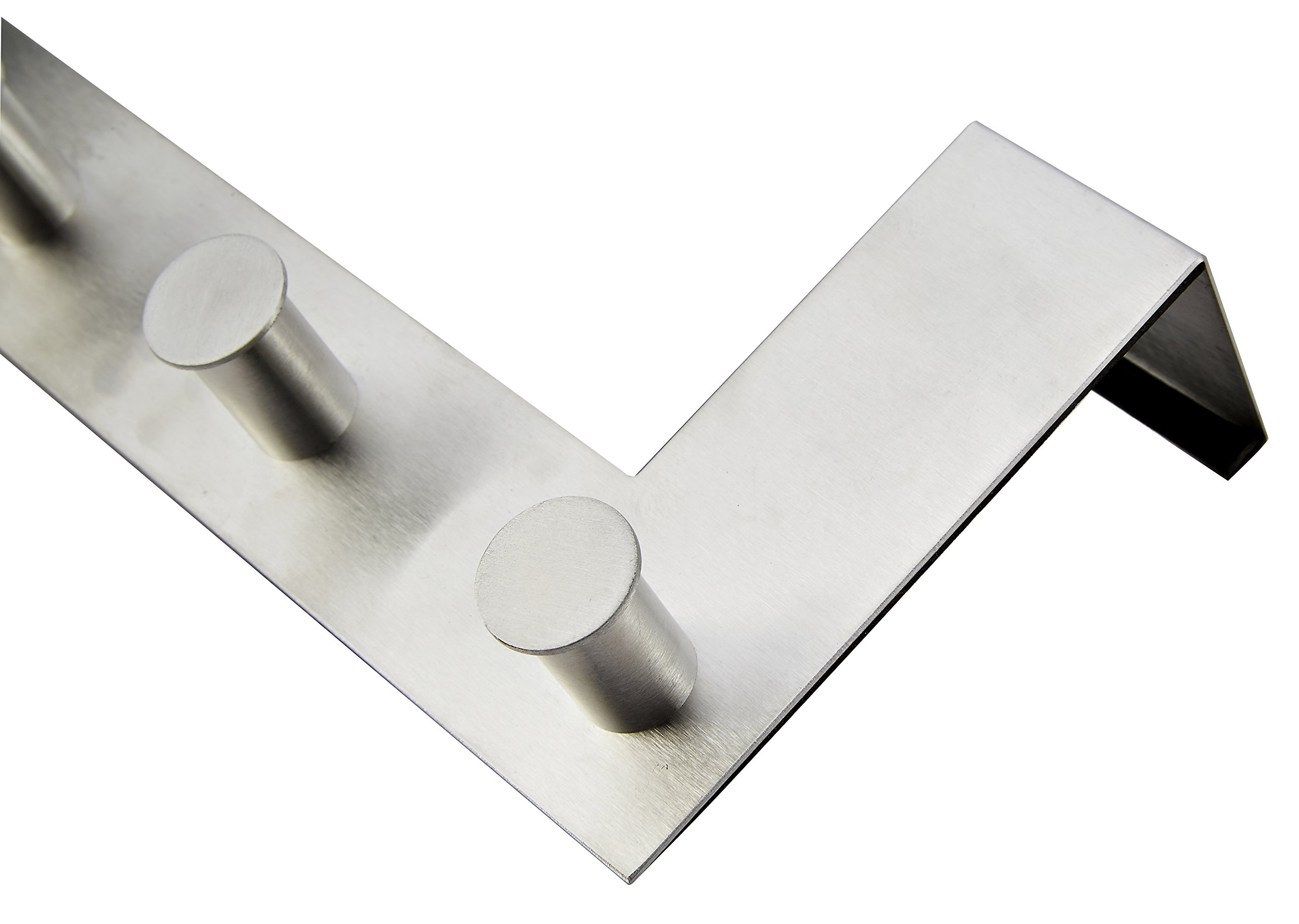Pro Chef Kitchen Tools Over The Door Hooks - 6 Coat Hooks Pegs - No Drill Towel Rack For Bathroom Storage Closet - Behind The Door Organizer Clothes Rack - Office Cubicle Hat Shoe Handbag Purse Hanger