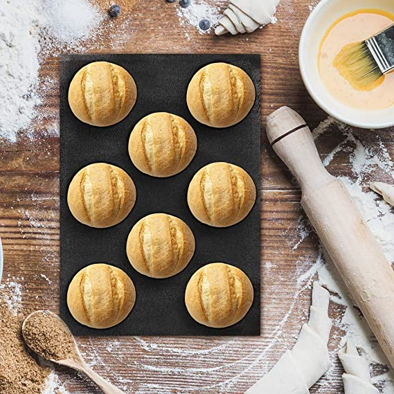 Baker Boutique silicona antiadherente para horno LINERS (perforado Pan bollos molde 8 cavidades: Amazon.es: Hogar