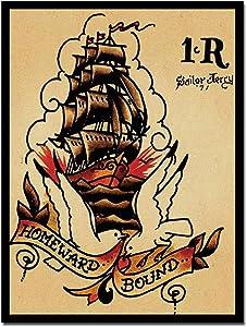 Sailor Jerry Retro Vintage Tin Sign Metal Sign TIN Sign 7.8X11.8 INCH