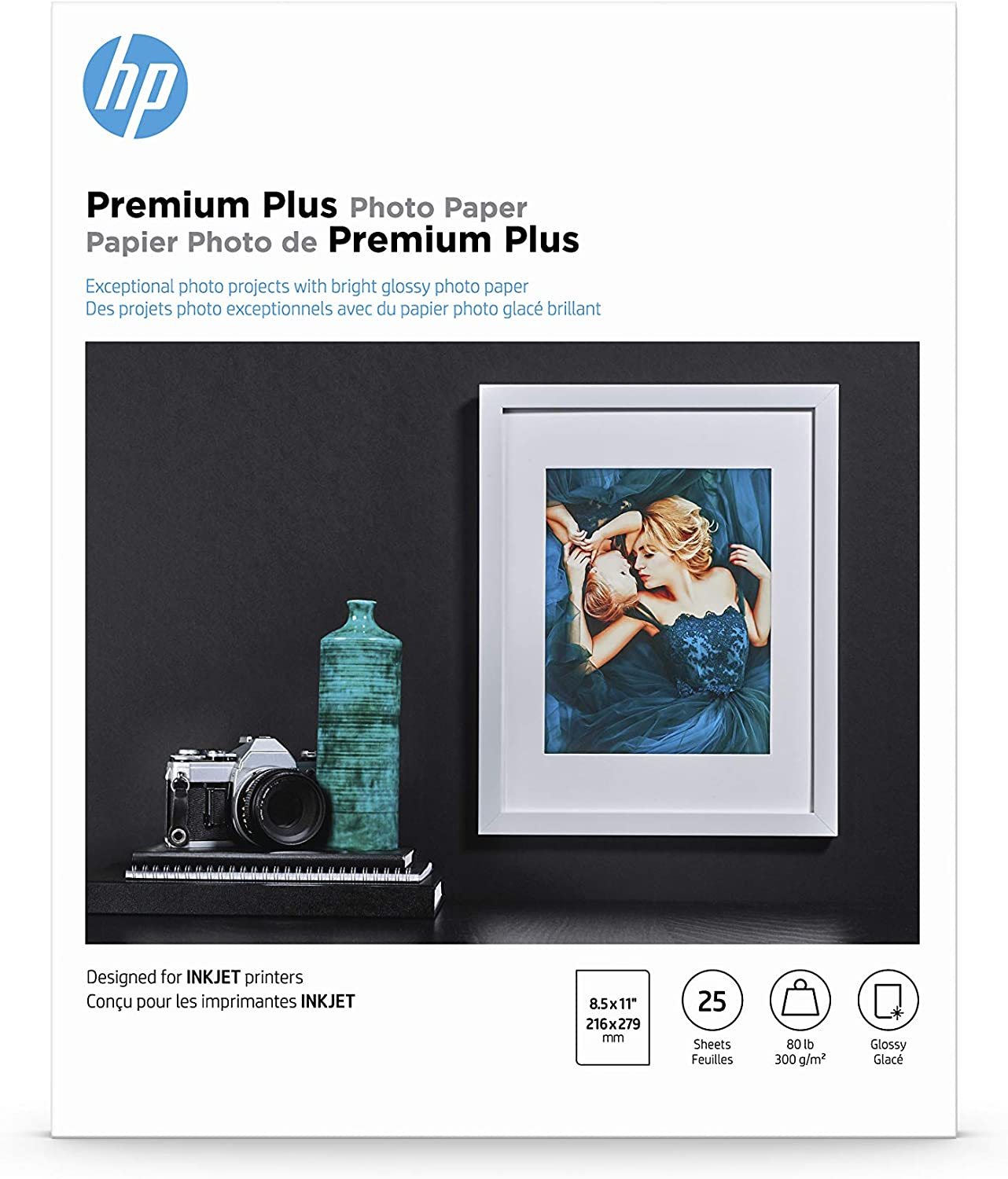HP Premium Plus Photo Paper | Glossy | 8.5x11 | 25 Sheets
