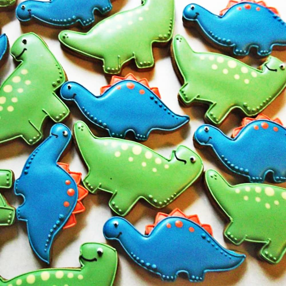HONYAO Set di Taglierini per Dinosauri per Bambini Pterosauria E Dinosauro Bambino 5 Pezzi Acciaio Inossidabile Stegosauro Tyrannosaurus Rex Camarasauro